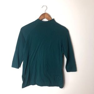 Intimately Free People Teal 3/4 Length Top Small